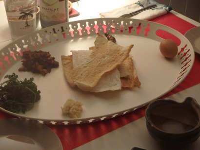 Star of the seder plate.