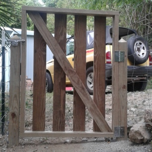 Now, we have a fence...and a gate!