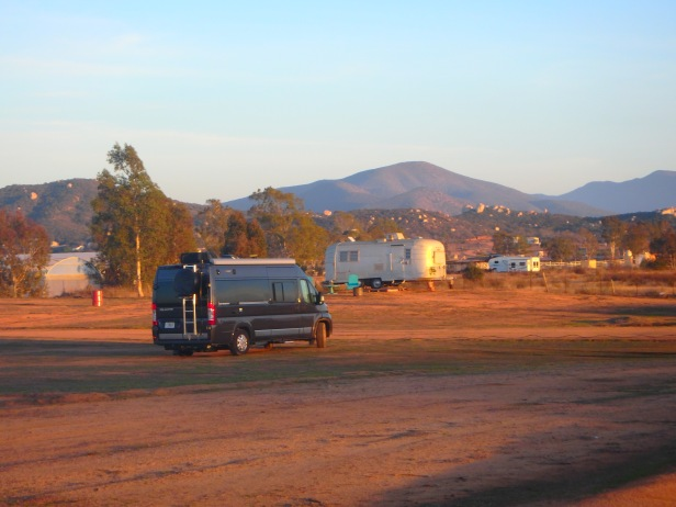 We stayed in our rv, surrounded by airstreams!