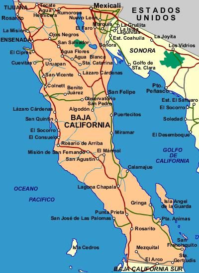 baja road map